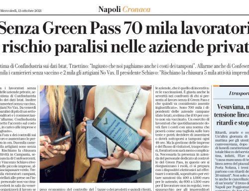 Senza Green Pass 70mila lavoratori è rischio paralisi nelle aziende private